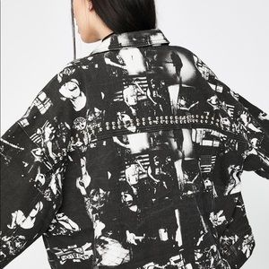 Dolls Kill Jackets & Coats - Black punk photograph jacket